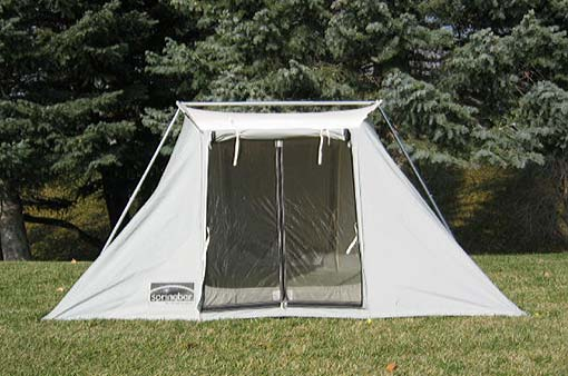 The largest model is the Family C&er 7. You can sleep eight people in this tent so this is the definitely the tent for larger families. & What is going on in there? | simplyamericandotnet