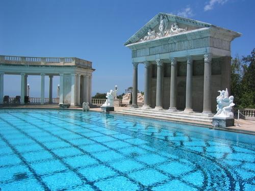 Come on in the water s fine simplyamericandotnet - Hearst castle neptune pool swim auction ...