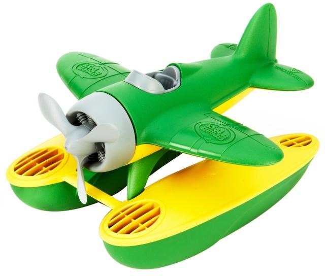 green toy seaplane
