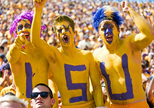 Painted Letters Football Auburn Fans