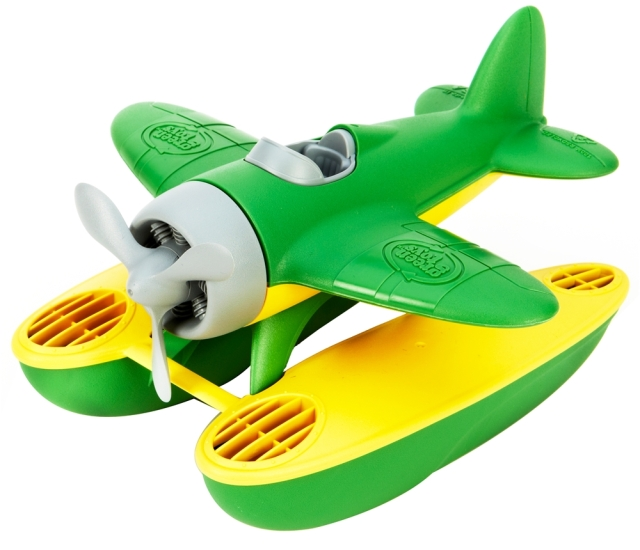 green toy seaplane