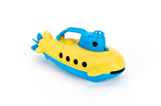 green toy submarine