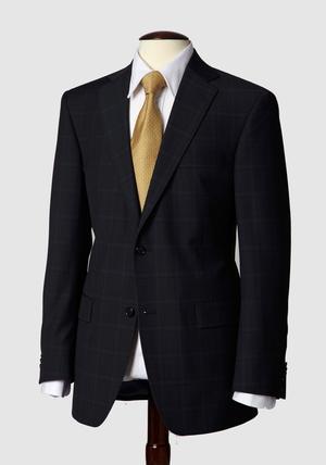 HSM Navy Glen plaid suit